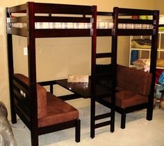 Loft Bed With Table Booth Beneath