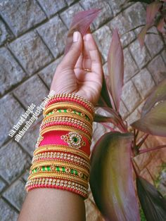 wts up 9121010270 Silk Thread Bangles Design, Silk Thread Necklace, Silk Bangles, Bridal Bangles, Thread Bracelets, Thread Jewellery, Bridal Jewellery, Chuda Bangles, Silk Art
