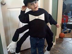 Toddler Moose has decided he needs to be a spider for Halloween. I just need a sweatshirt (his legs are the other two), . Animal Costumes Diy, Diy Costumes, Costume Ideas, Spider Halloween Costume, Halloween Kids, Halloween Treats, Easy Homemade Costumes, Festive Crafts, Easy Crafts