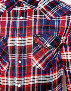 Image 3 of Lee Shirt Slim Fit Western Varied Check
