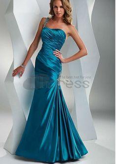 Fabulous Floor-Length Beading One Shoulder Prom Dresses Mermaid Skirt, Mermaid Dresses, Prom Dress 2014, Strapless Dress Formal, Bridesmaid Dresses, Prom Dresses, Formal Dresses, Dresses 2014, Bridesmaids
