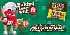 I'm pinning to win in the M&M's® Baking Contest!