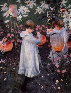John Singer Sargent  Carnation, Lily, Lily, Rose, 1885-1886  Oil on canvas  The Tate Gallery