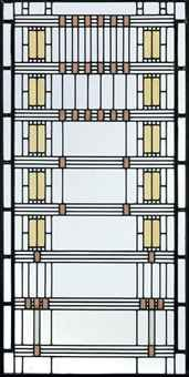 FRANK LLOYD WRIGHT (1867-1959)  A 'WISTERIA' LEADED GLASS WINDOW FROM THE DARWIN D. MARTIN HOUSE, BUFFALO, NEW YORK, CIRCA 1903-05
