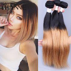 $124.00 (Buy here: https://alitems.com/g/1e8d114494ebda23ff8b16525dc3e8/?i=5&ulp=https%3A%2F%2Fwww.aliexpress.com%2Fitem%2F3-Bundles-Ombre-Brazilian-Virgin-Hair-Straight-Two-Tone-Brazilian-Weave-Hair-1B-27-blonde-Straight%2F32474925112.html ) 3 Bundles Ombre Brazilian Virgin Hair Straight Two Tone Brazilian Weave Hair 1B/27 blonde Straight Ombre Human Hair Extension for just $124.00