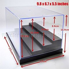 Acrylic Display 4 Steps Case/Box inches) Perspex Dustproof ShowCase For Minifigure Cars Amiibo Funko POP Acrylic Display Box www. Amiibo Display, Funko Pop Display, Toy Display, Display Boxes, Displays, Watch Display, Display Shelves, Acrylic Panels, Acrylic Box