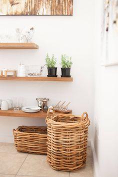 Floating shelves + woven basket   Incanda Furniture