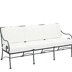 (CLICK IMAGE TWICE FOR UPDATED PRICING AND INFO) #home #patio #sofa #outdoor #outdoorsofa #patiosofa #gardensets #loungechair #outdoorpatiosofa see more patio sofa at http://zpatiofurniture.com/category/patio-furniture-categories/patio-sofa/ - Riverton Cushioned Sofa – Wrought Iron Patio Furniture « zPatioFurniture.com