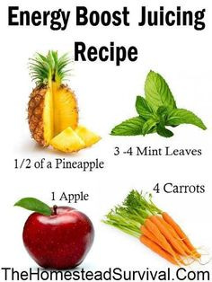 "Juicing Recipe - ""Energy Drink"" Just remember to go easy on the fruit juices! They're still sugar ;) #juicing #recipes #vegetable"
