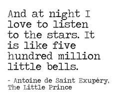 Toutes les étoiles sont des fleurs... Le Petit Prince de St Ex.