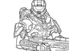 Halo 5 Free Coloring Pages Printable And Book To Print For Find More Online Kids Adults Of