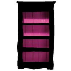Freehand Drawing Of Black Bookshelf W Pink Shelves