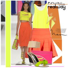 Runway to Realway: Neon, created by honii.polyvore.com
