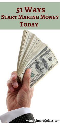 51 Ways To Make Money Today. I was searching for some fast ways to make money online and came across these tips. So helpful! Thanks for sharing!