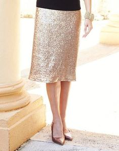 Joanna Hope Sequin Skirt Gold Size UK 16 DH181 KK 07 #fashion #clothing #shoes #accessories #womensclothing #skirts (ebay link)