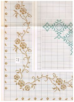 Mini Cross Stitch, Cross Stitch Rose, Cross Stitch Borders, Cross Stitch Designs, Cross Stitching, Cross Stitch Embroidery, Cross Stitch Patterns, Palestinian Embroidery, Quilling Cards