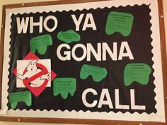 Ghostbusters RA bulletin board. Lists important phone numbers on campus and situations to call the number. #RA #bulletinboard #education #emergency #safety. Indiana university Fall 2014 Ra Bulletins, Ra Bulletin Boards, Self Defense Tips, Resident Assistant, Internet Safety, Indiana University, Teacher Appreciation Week, Safety And Security, Identity Theft