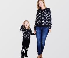 0df1bd476 Cute Cherry Cardigan for Mom and Daughter