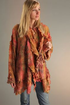 shibori textile artist designs women's clothing and accessories in hand dyed silks and linen Textile Artists, Wearable Art, Fiber Art, Plaid Scarf, Felt, Textiles, Clothes For Women, Clothing, Summer
