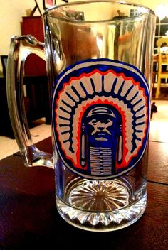 20 oz Hand Painted Illinois Fighting Illini Chief by SassySippings, $20.00