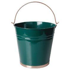 Green Bucket (Esschert Design USA TG174 Painted Metal Pail)