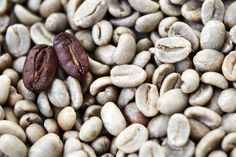 two brown coffee beans on a bed of white coffee beans Brown Coffee, White Coffee, Coffee Business, Decaf Coffee, Coffee Pictures, Coffee Drinkers, Coffee Beans, Natural, Bed