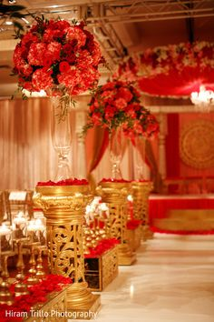 Indian wedding ceremony floral and decor http://www.maharaniweddings.com/gallery/photo/92336