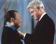 Daniel Inouye receiving the Medal of Honor from President Clinton-9/7/1924-12/17/2012