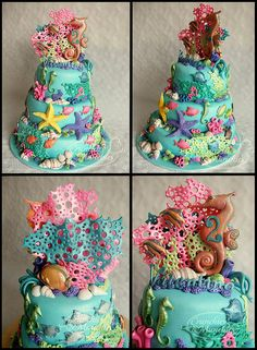 Coral reef birthday cake