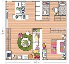Teljes lakásfelújítás egy 40nm-es otthonban a zónák ügyes átszervezésével