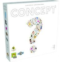 The boardgame Concept and Concept Kids, published by Repos Production, 2014 winner of the As d'Or and nominated for the Spiel des Jahres in 2014 – You don't need to talk to communicate anymore!