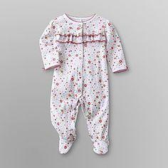 Little Wonders- -Infant Girl's Sleeper Pajamas - Flowers