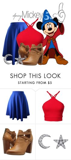 """Mickey Mouse~ DisneyBound"" by basic-disney ❤ liked on Polyvore featuring Frye and Khai Khai"