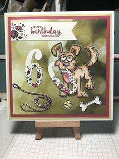 Tim Holtz Crazy Dogs 60th birthday card. www.facebook.com/handmadebytrish