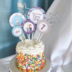 Frozen Cake Toppers, Custom congelati partito, congelato parti decorazioni, Custom congelati Cake Toppers