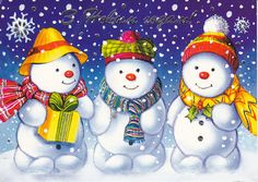I love snowmen they feature in my Christmas decorations through my home AHB