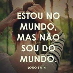 João 17:14 Muitas vezes me sinto assim , Senhor!