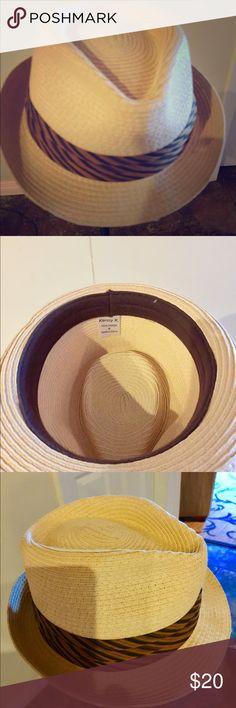 Kenny K Straw Hat Never worn, 100% Paper Kenny K Accessories Hats