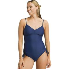 New Prana Moorea One-Piece Swimsuit - Women's. Womens Clothing from top store Skinny Pants, Women Swimsuits, Black Stripes, One Piece Swimsuit, Clothes For Women, Beach Blanket, Swimwear, Shoulder Straps, Convertible