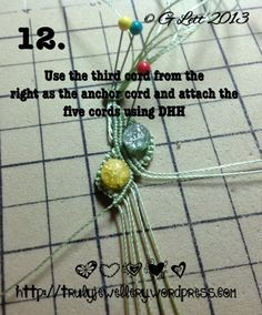 All at Sea Micro Macrame Bracelet tutorial picture 12