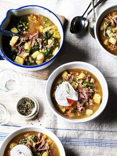 Treat your taste-buds to this flavoursome Potato and Ham broth. Top with a perfectly poached egg and enjoy!