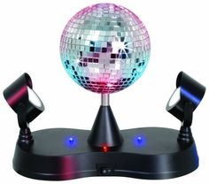 LumiSource, Inc. Black Table Lamp - Shift your party into overdrive with the mirror madness party light. Not only does this mirror ball rotate, but it comes with a selection of colored LED lighting schemes. Novelty Lamps, Novelty Lighting, Mirror Ball, Led Mirror, Ball Lights, Party Lights, String Lights, Disco Ball, Disco Party