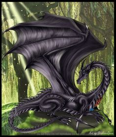 Black Dragoness - Commission by ~DrakainaQueen on deviantART