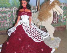 Crochet Fashion Doll Barbie Pattern 268 ROSE by JudysDollPatterns