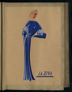 Robe La Diva, Paris 1934 copyright Patrimoine Lanvin #Lanvin125