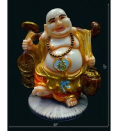 Laughing Budha With Coin Bag @ Rs 1800 http://www.krafthub.com/fengshui-products/buddha-statues.html