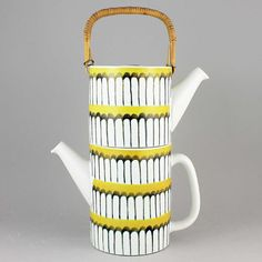 Stig Lindberg (1950s) Marvelous Faience Double Teapot (Yellow)