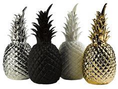 Ananas déco en porcelaine