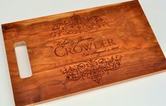 Cutting Board Personalized Cutting Board Laser by mrcwoodproducts, $34.00