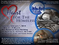 Heart for the Homeless! We will be distributing winter coats, clothing and other winter accessories to the homeless. Please support us and donate any clothing you have for this Community Service Initiative!